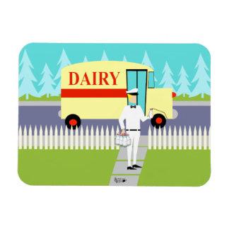 Retro Small Town Milkman Flexible Magnet