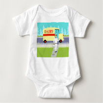 Retro Small Town Milkman Infant Creeper
