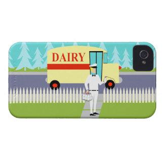 Retro Small Town Milkman iPhone 4 Case