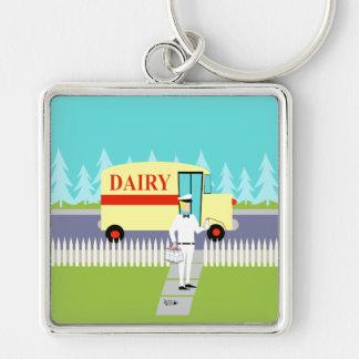 Retro Small Town Milkman Keychain