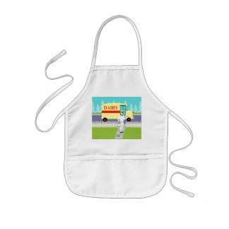 Retro Small Town Milkman Kid's Apron Kids Apron
