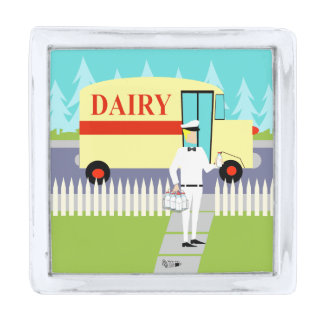 Retro Small Town Milkman Lapel Pin