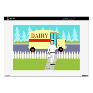Retro Small Town Milkman Laptop Skin