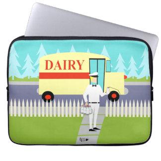 Retro Small Town Milkman Laptop Sleeve