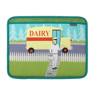 Retro Small Town Milkman MacBook Air Sleeve