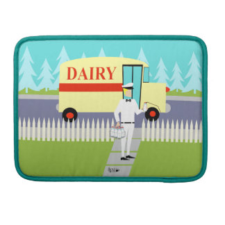 Retro Small Town Milkman MacBook Pro Sleeve