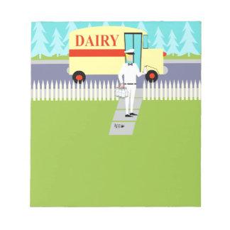 Retro Small Town Milkman Notepad