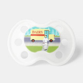 Retro Small Town Milkman Pacifier BooginHead Pacifier
