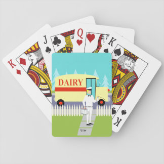 Retro Small Town Milkman Playing Cards