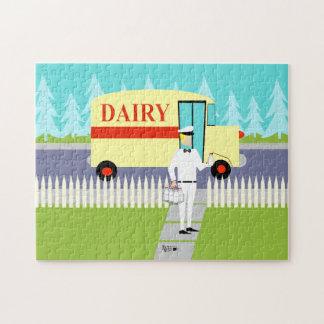 Retro Small Town Milkman Puzzle