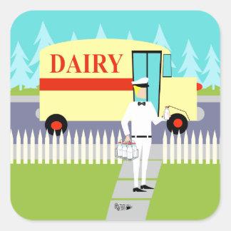 Retro Small Town Milkman Stickers