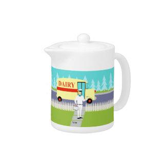 Retro Small Town Milkman Teapot