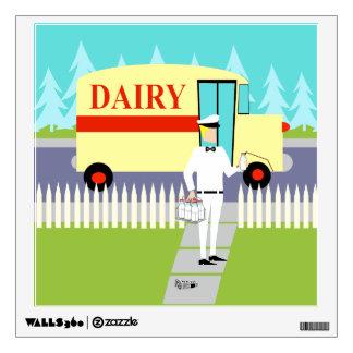 Retro Small Town Milkman Wall Decal