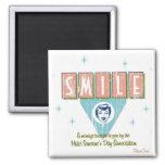 Retro 'Smile' Fridge Magnet