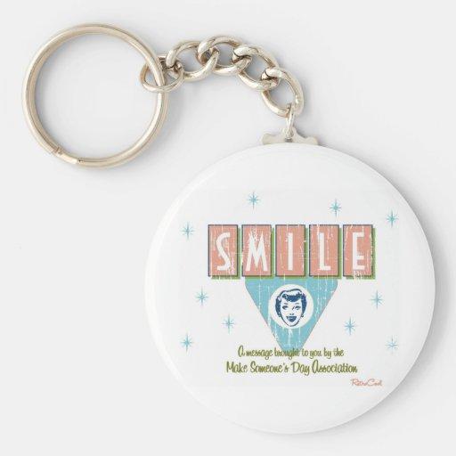 Retro 'Smile' Key Chain