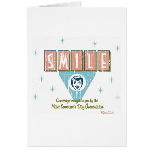 Retro 'Smile' Stationery Note Card