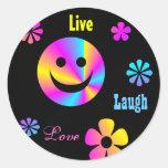 Retro Smiley Face Stickers