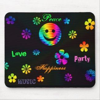 Retro Smiley Mousepad mousepad