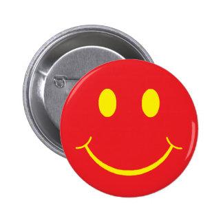 Retro Smiley Pinback Button