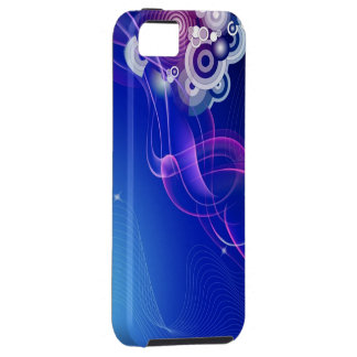 Retro smoke blue & pink iPhone SE/5/5s case