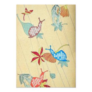Retro Snail art Card