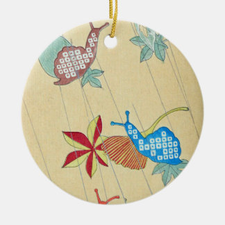 Retro Snail art Ceramic Ornament