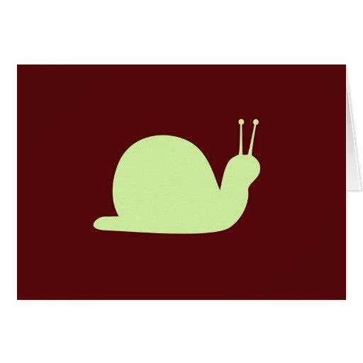 Retro Snail - Blank  Card