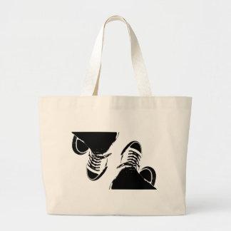 Retro Sneaker Large Tote Bag