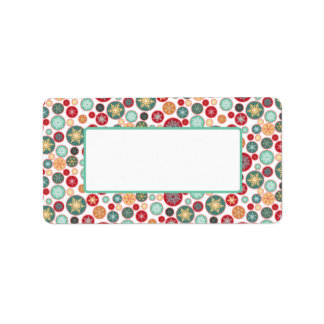 Retro Snowflake Christmas Mailing or Gift Label