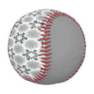 Retro Snowflake Floral Black White Snowflakes Baseball