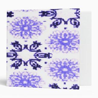 Retro Snowflake Floral Lavender Purple Vinyl Binder