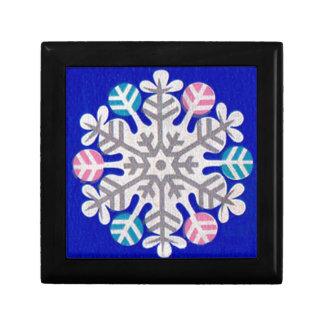 Retro Snowflake Gift Box