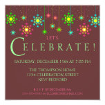 Retro Snowflake Holiday Party Invitation
