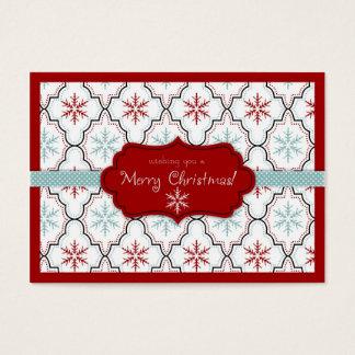 Retro Snowflakes Gift Tag 2