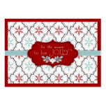 Retro Snowflakes Gift Tag Business Card Template