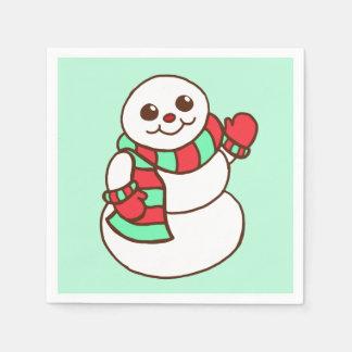 Retro Snowman Napkins