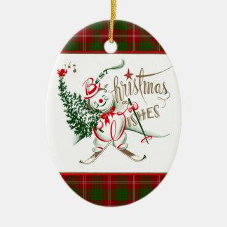 Retro Snowman Christmas Ornaments