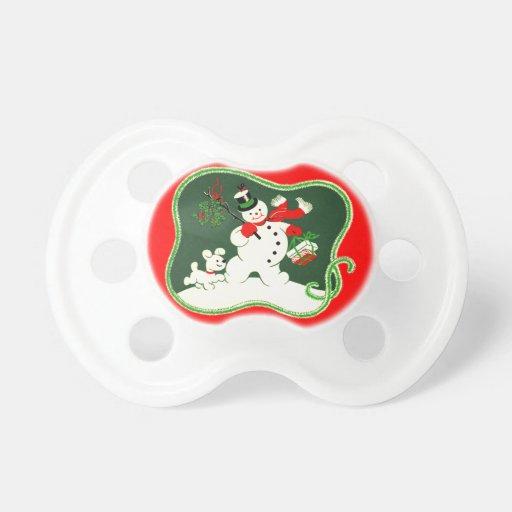 Retro Snowman Pacifiers