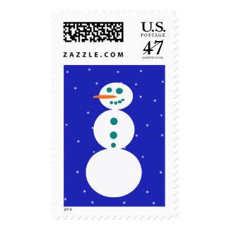Retro Snowman Postage Stamps