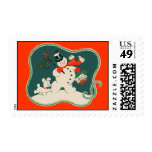 Retro Snowman Stamp