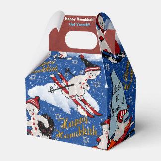 Retro Snowmen, 6 Pt star and Hanukkah Greetings Favor Box