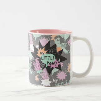 Retro Snuzzle Design Two-Tone Coffee Mug