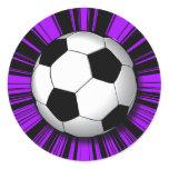 RETRO SOCCER BALL CLASSIC ROUND STICKER