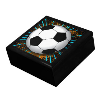 Retro Soccer Ball Keepsake & Jewelry Gift Box