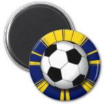 RETRO SOCCER BALL MAGNET