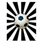 RETRO SOCCER BALL POSTCARD