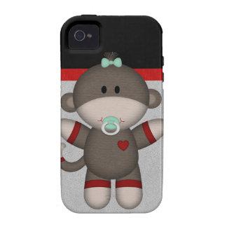 Retro Sock Monkey Baby Case-Mate iPhone 4 Cases