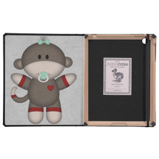 Retro Sock Monkey Baby iPad Case