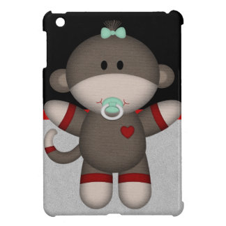 Retro Sock Monkey Baby iPad Mini Cover