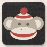 Retro Sock Monkey Beverage Coaster